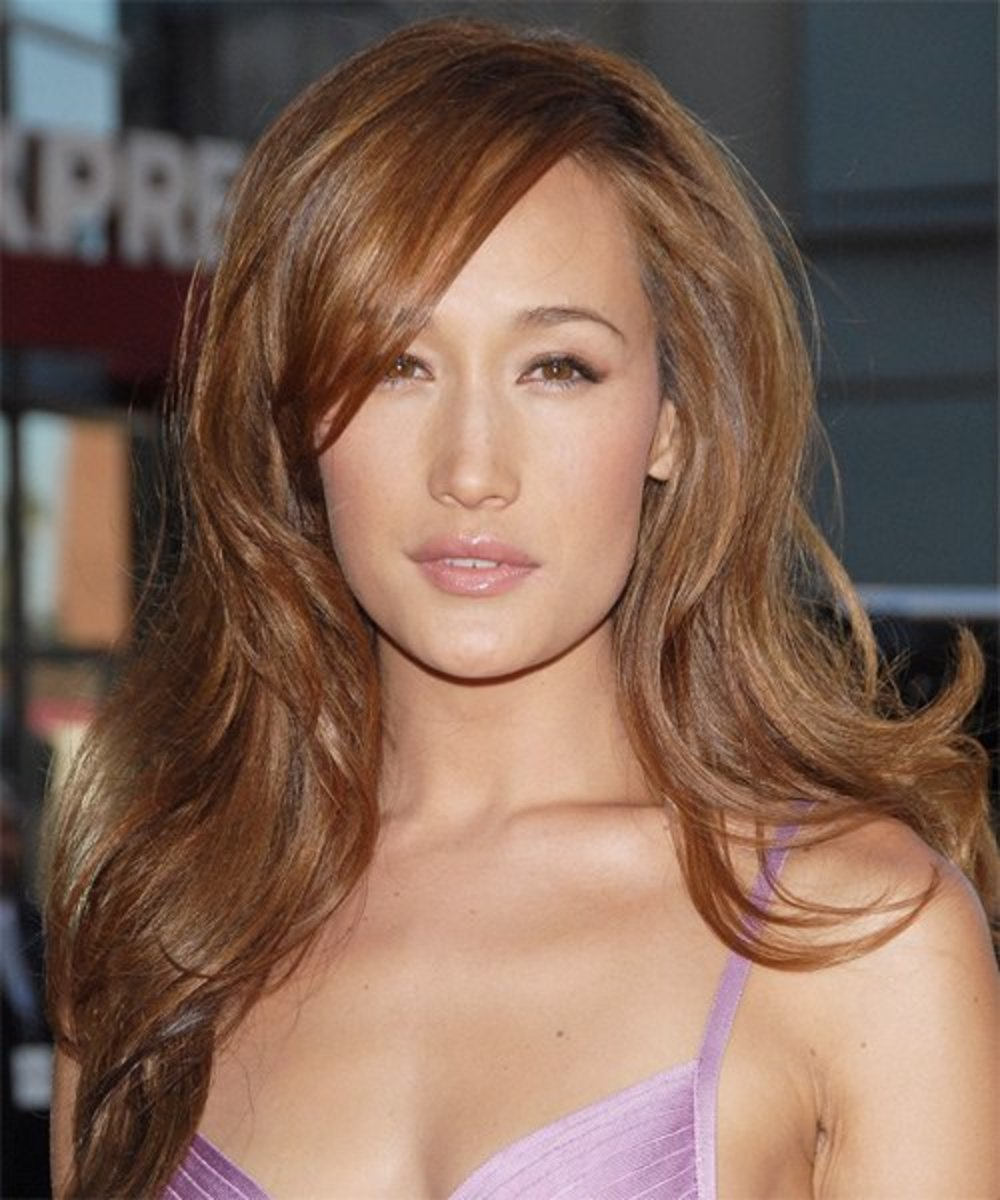 Maggie Q. with light brown hair.