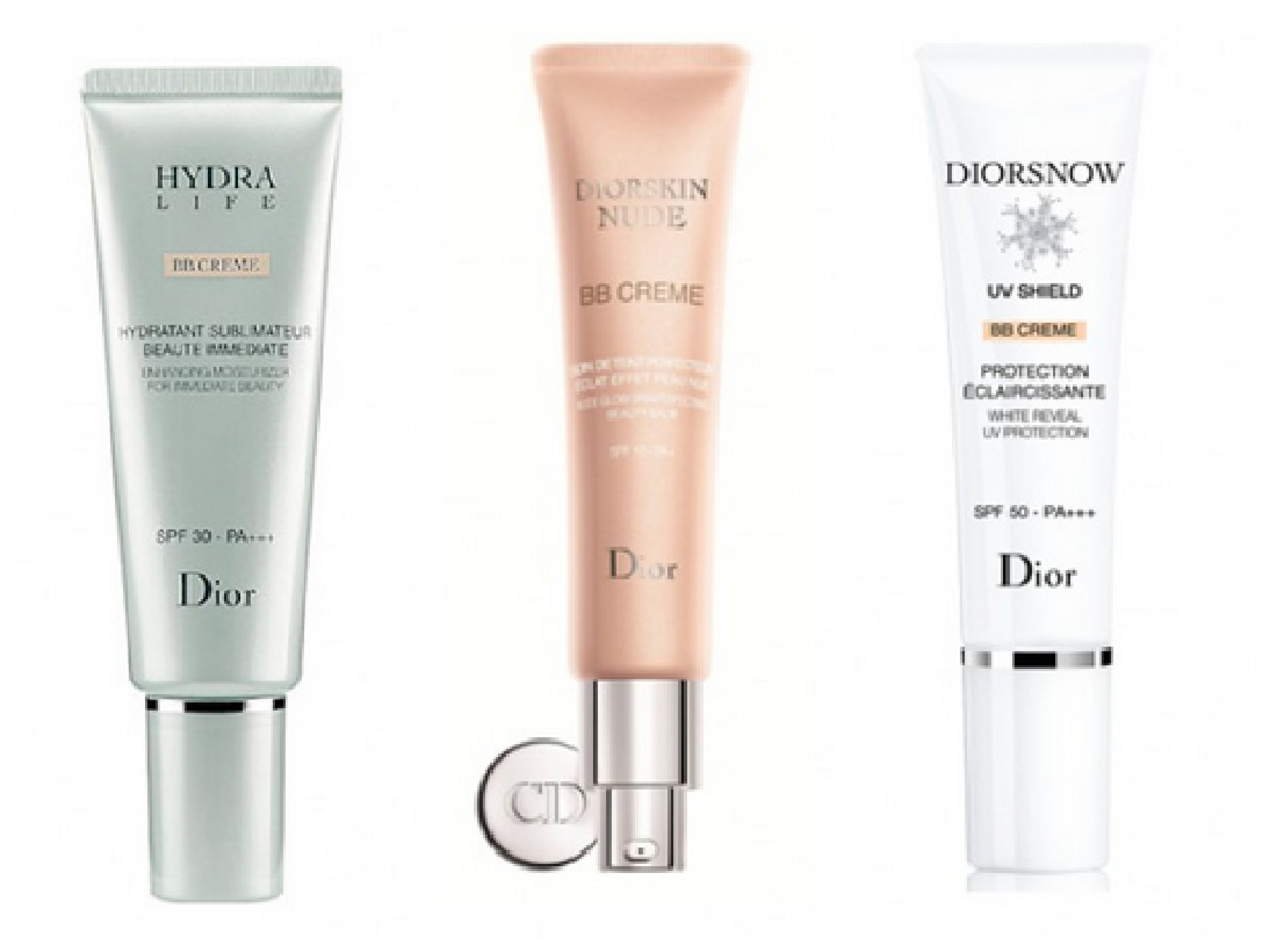 Dior now offers 3 different BB creams for a range of skin concerns and types