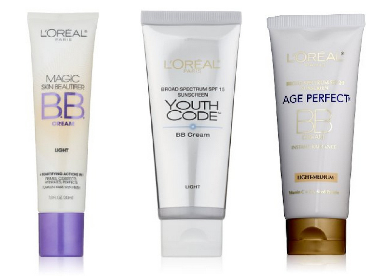 L'Oreal BB Creams: Magic Skin Beautifier (for minimal skin concerns), Youth Code, or Age Perfect (for anti-aging)