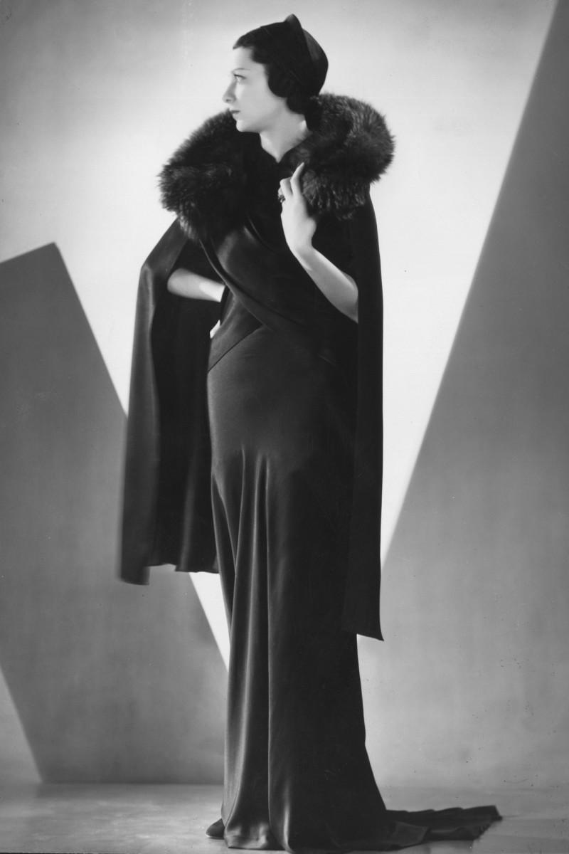 A bias-cut gown