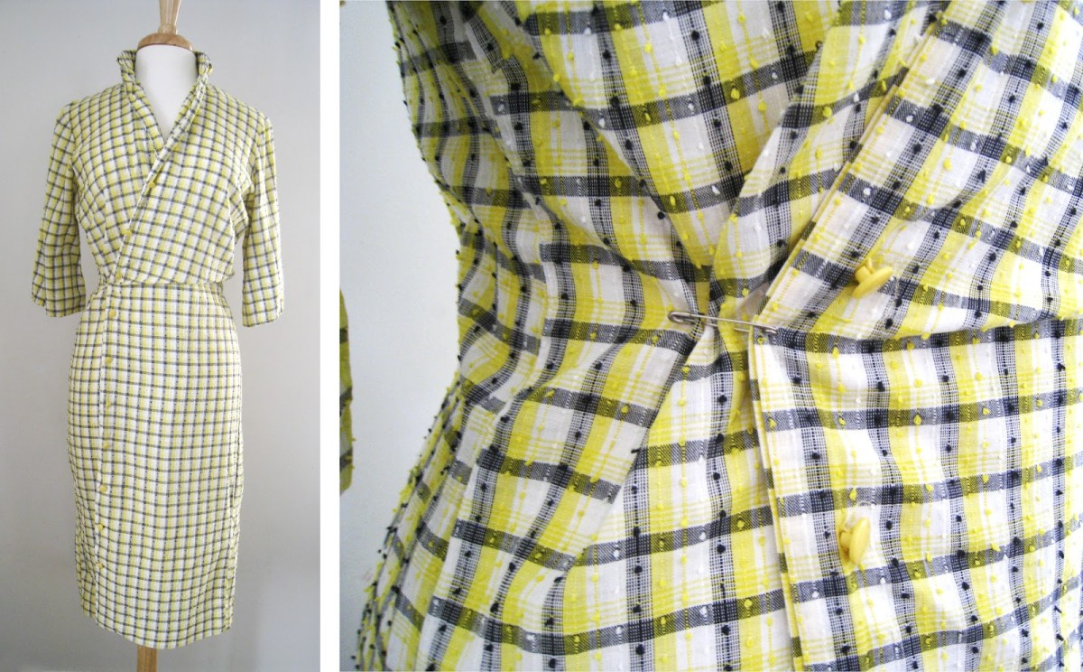 Vintage 1950's-60's shirt dress Mode O' Day.