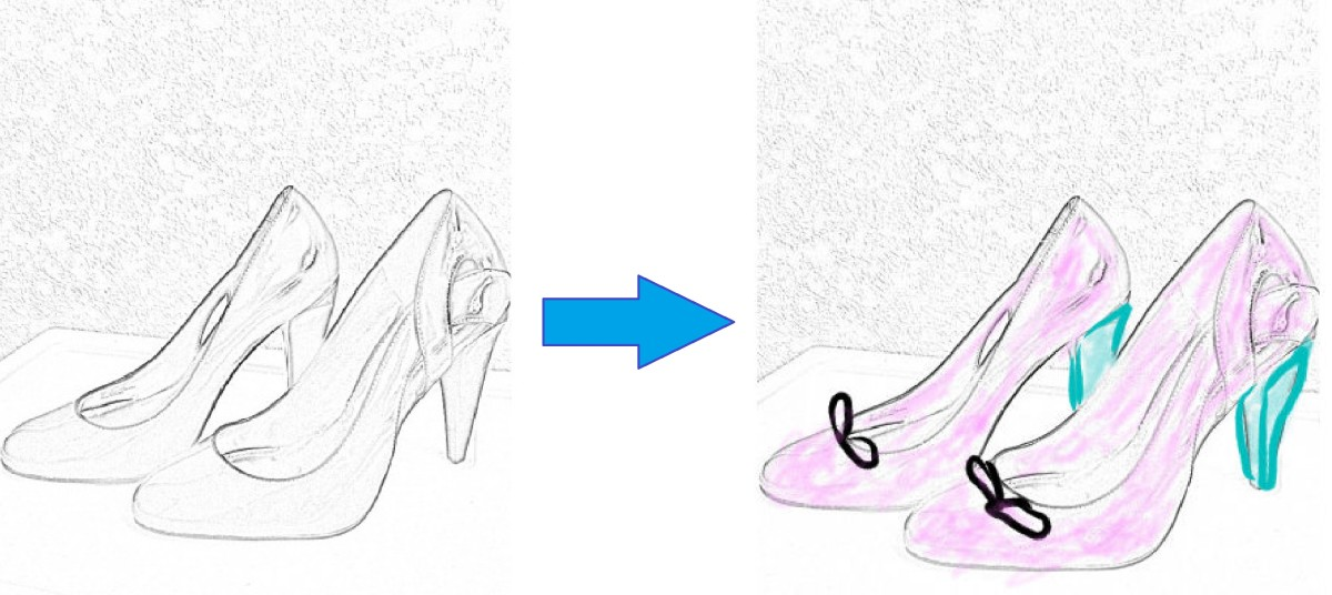 Modify your shoe from the pencil sketch
