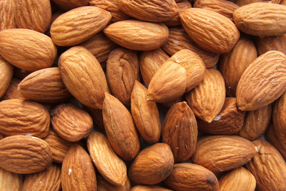 Almonds may be soaked in water overnight to soften when using in a homemade face mask.