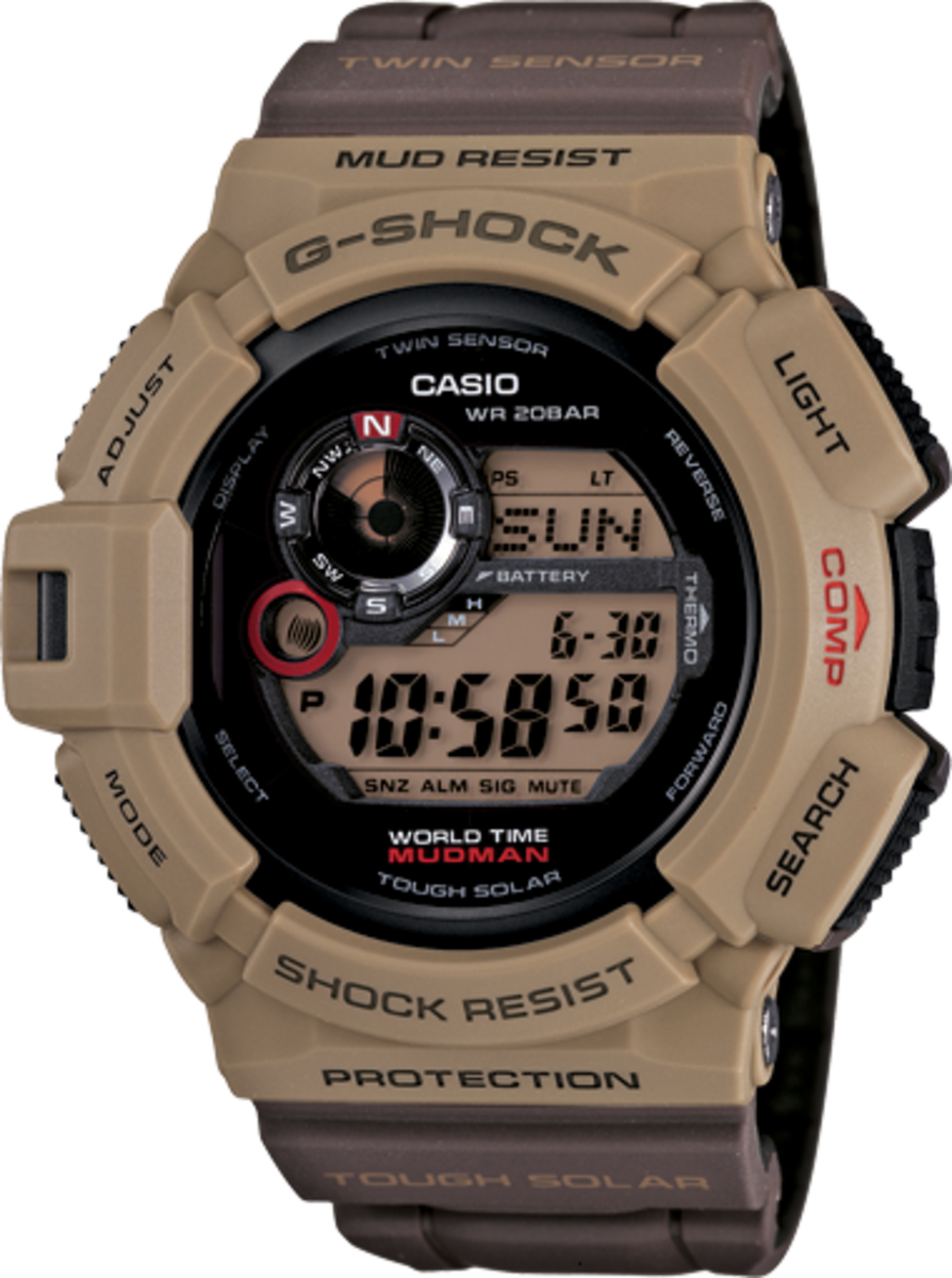 The G9300er-5 is four different watch styles in one.