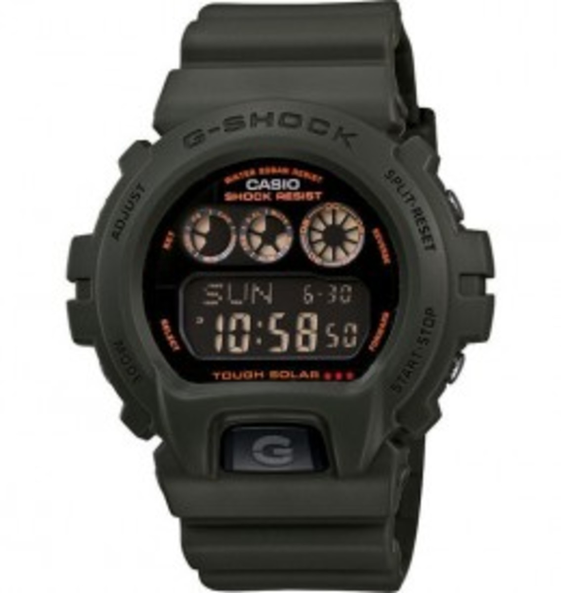 The G6900KG-3CR is the first solar-powered military-style watch in the G-Shock category.