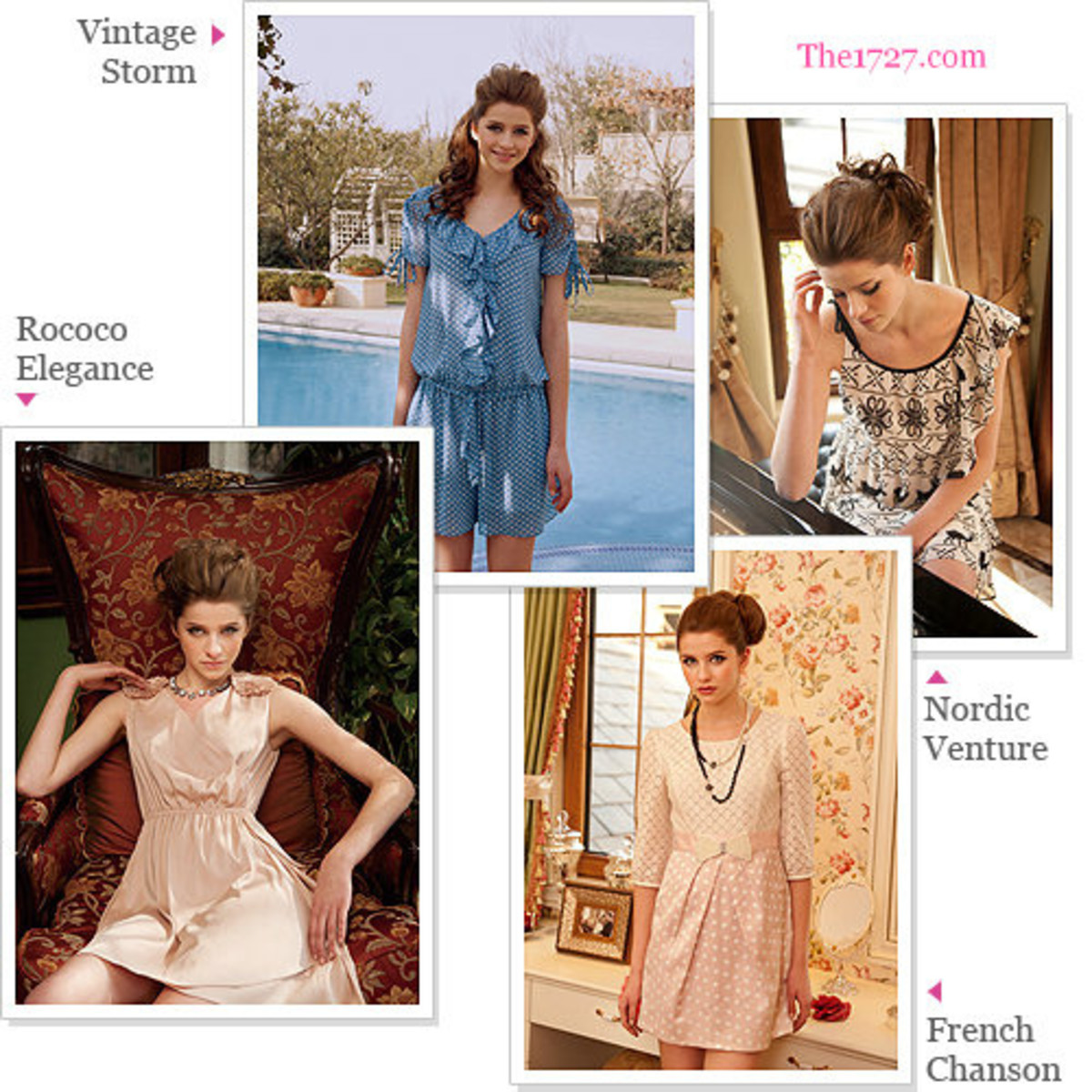 The above are all very Romantic yet modern looks.