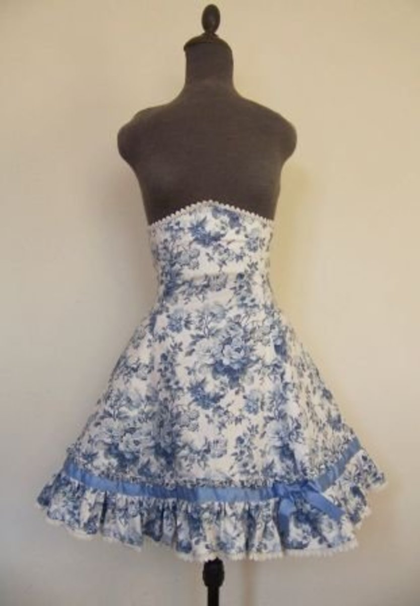 Blue Portrait Skirt