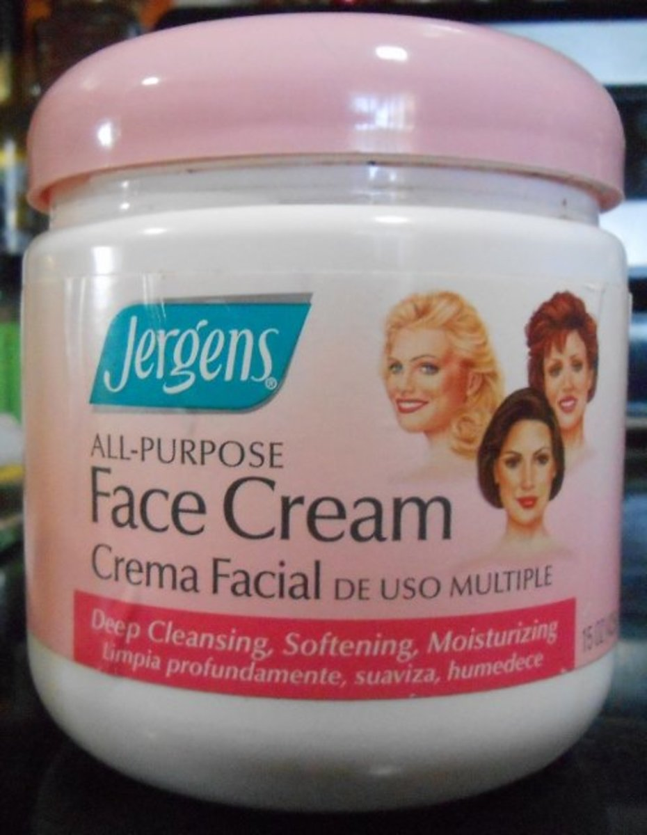Jergen's All-Purpose Face Cream--It has pretty packaging, don't you think?