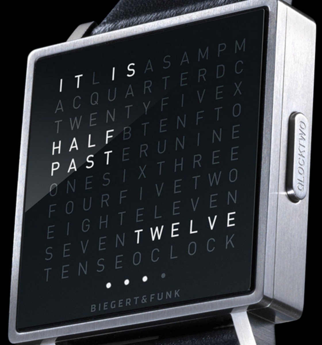 The face of this watch is also available in a larger clock version.