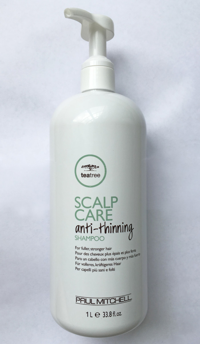 Paul Mitchell Tea Tree Scalp Care Anti-Thinning Shampoo is one of my favorite picks.