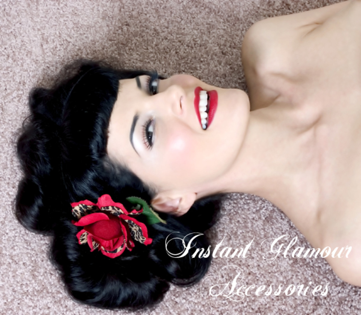 Add a pretty pin-up flower accessory to your hair for that cute '50s touch!