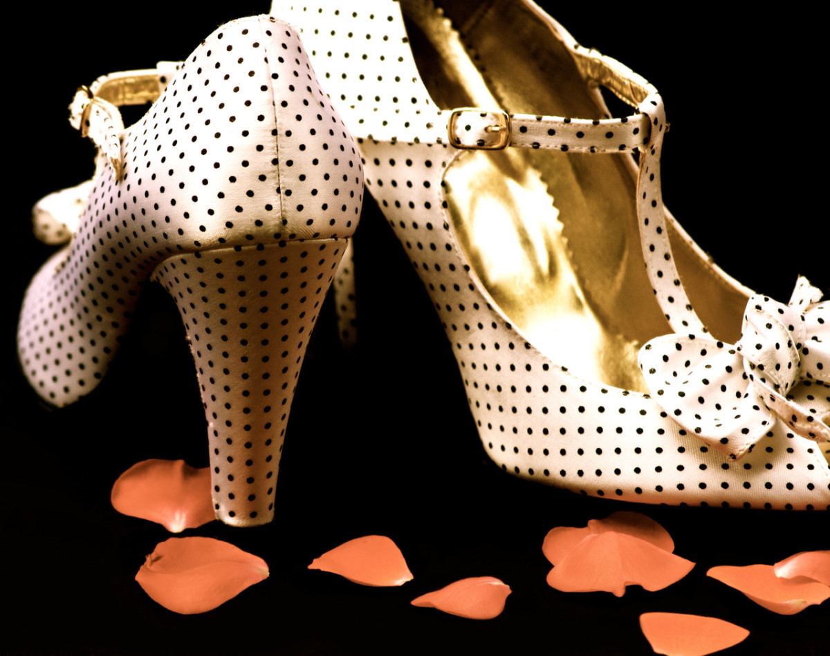 Any pumps with polka dots are quintessential 50s!