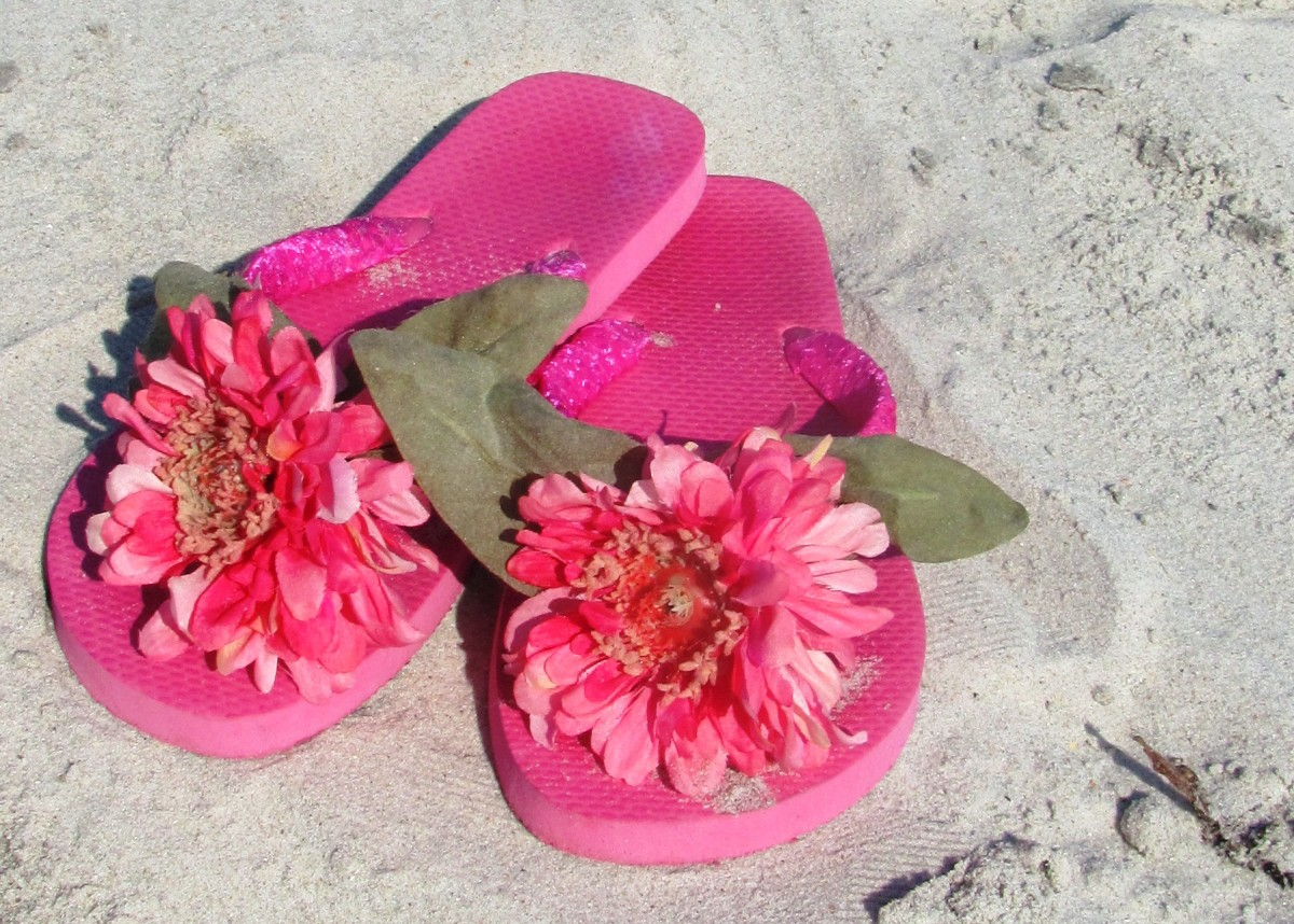 I've got my flip flops and I'm ready for the beach!