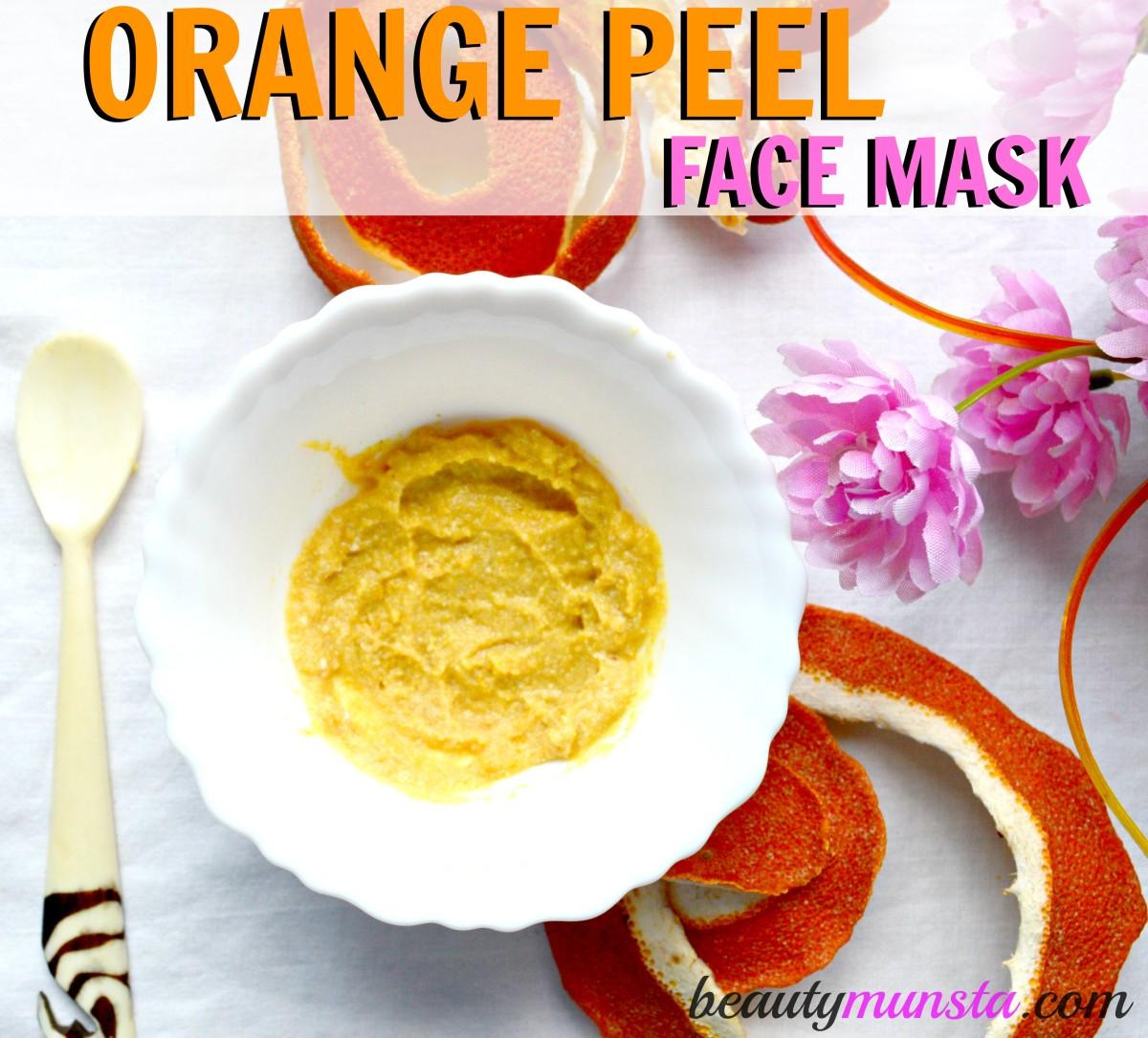homemade orange peel face mask