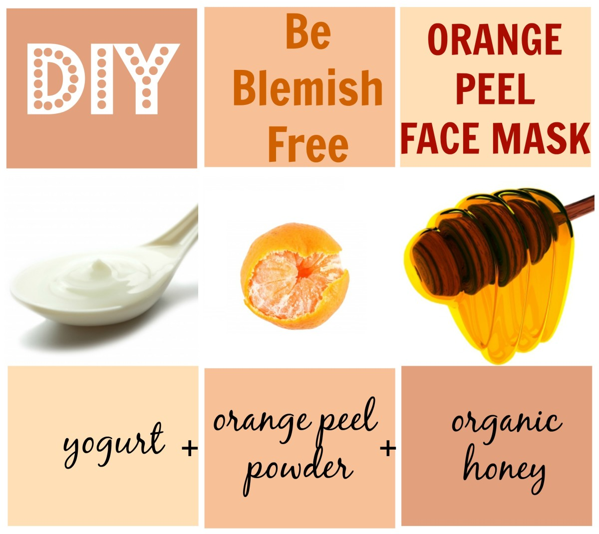 Get rid of blemishes with the Be-Blemish-Free Orange Peel Face Mask, which reduces the visibility of blemishes and evens out skin tone.