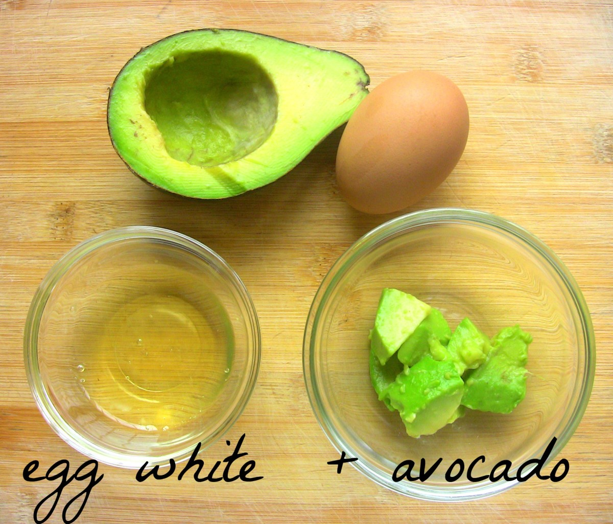Avocado & Egg White are a nourishing combination for beautiful skin.