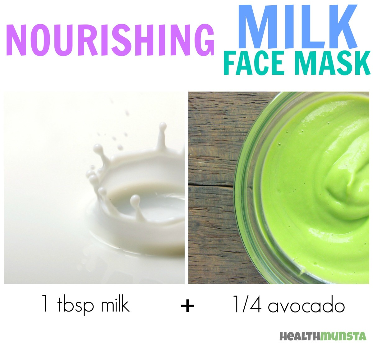 Avocado + Milk makes for a nourishing face mask that rehydrates and renews skin