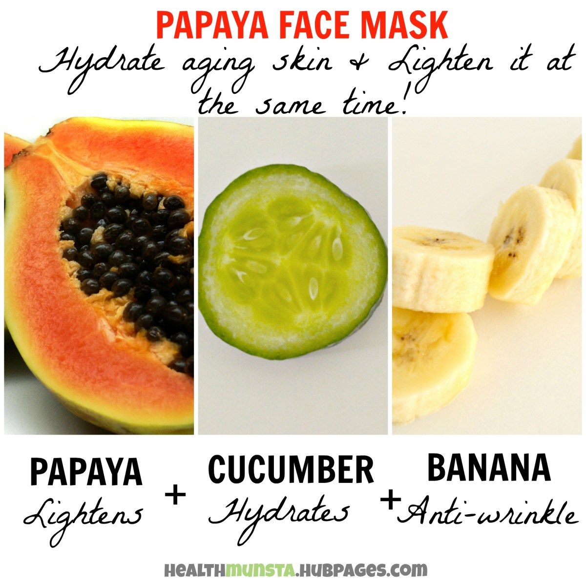 Time to get rid of those pesky premature wrinkles and dark spots too, with this unique papaya face mask formulated to plump up your skin and reduce pigmentation!