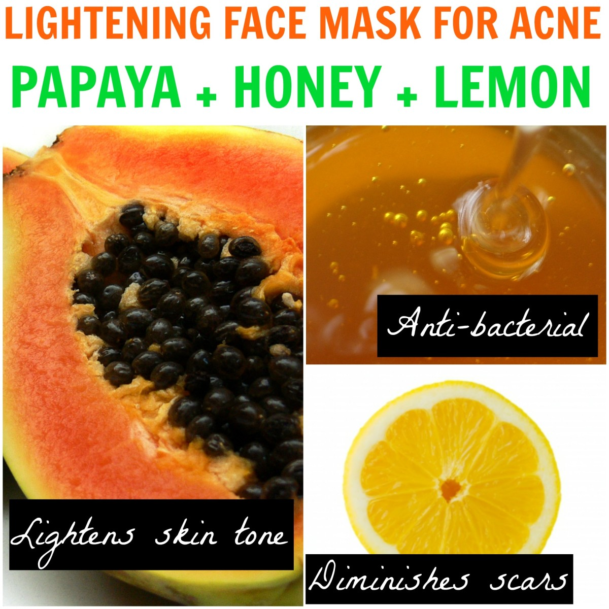 This papaya face mask is great for acne and also helps lighten and even out skin pigmentation. This is a powerful mask that can lighten scars as well, leaving you with bright, flawless skin.