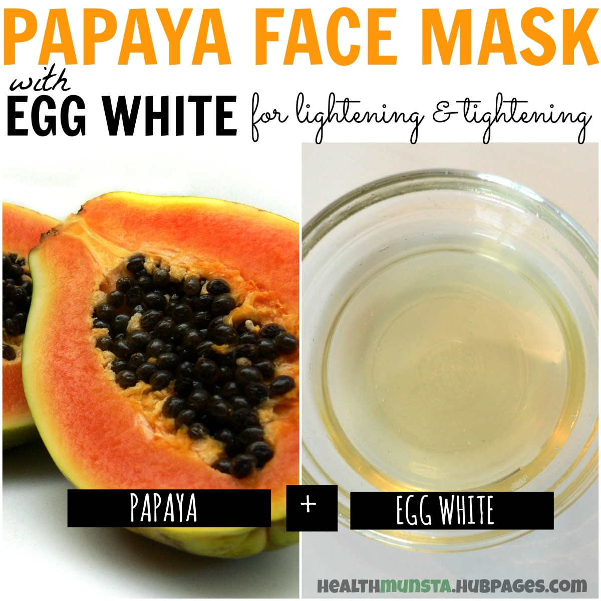 Skin while the egg white helps tighten pores giving you a flawless