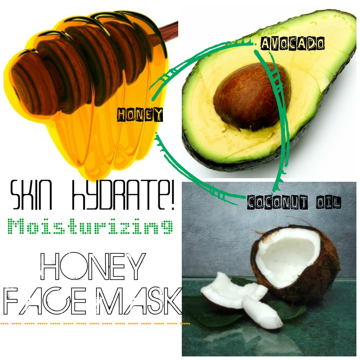 Honey Face Mask for the ultimate skin revival. With avocado and coconut oil, this is a great mask for all sorts of skin issues.