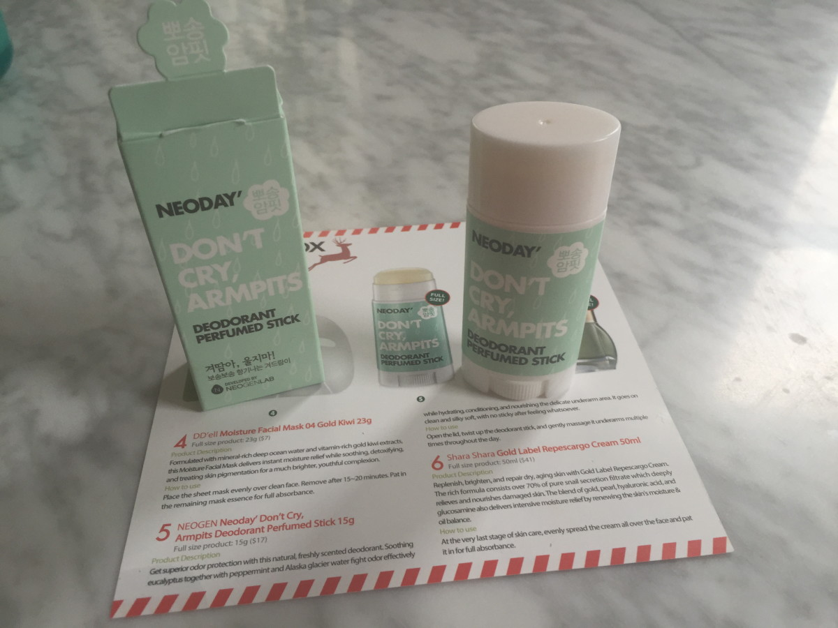 Neogen Neoday' Don't Cry Armpits Deodorant Perfumed Stick