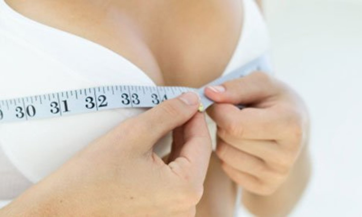 Wrong! Don't measure the bra, measure yourself.