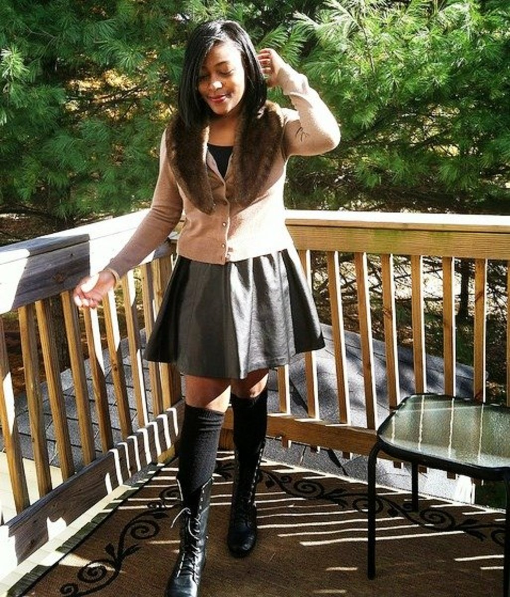b982a4a3b3 Style Tips on What to Wear With a Leather Skirt   Bellatory
