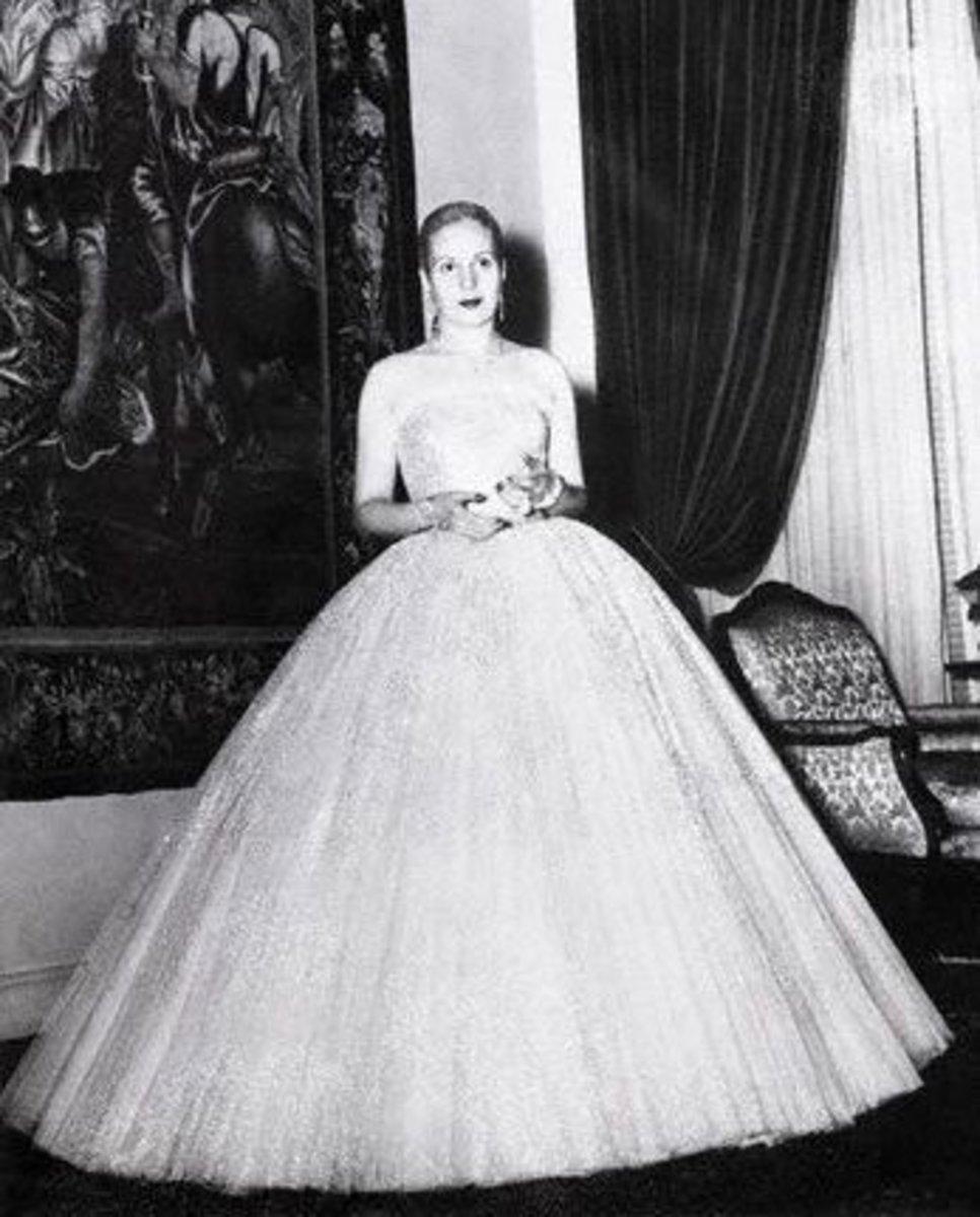 Evita Peron in Dior circa 1950