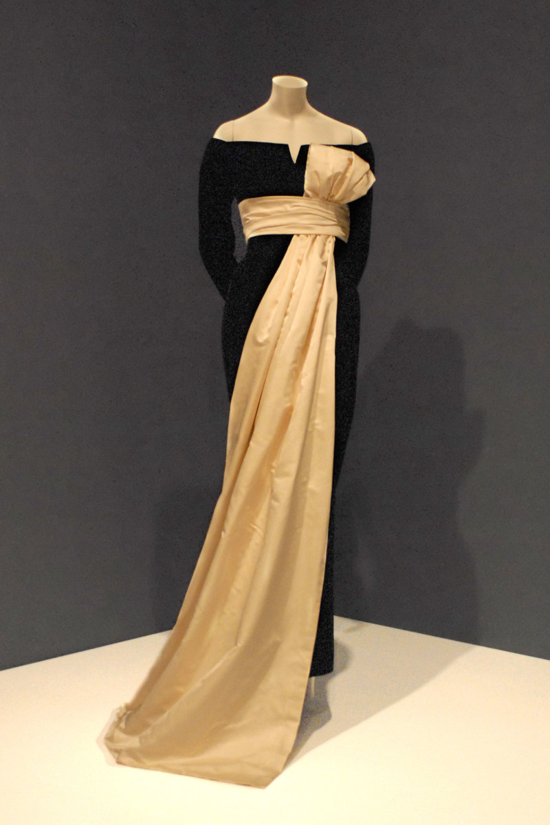 "Dior dress from a 1955/56 collection was worn in the famous Richard Avedon photo ""Dorlina With Elephants"""