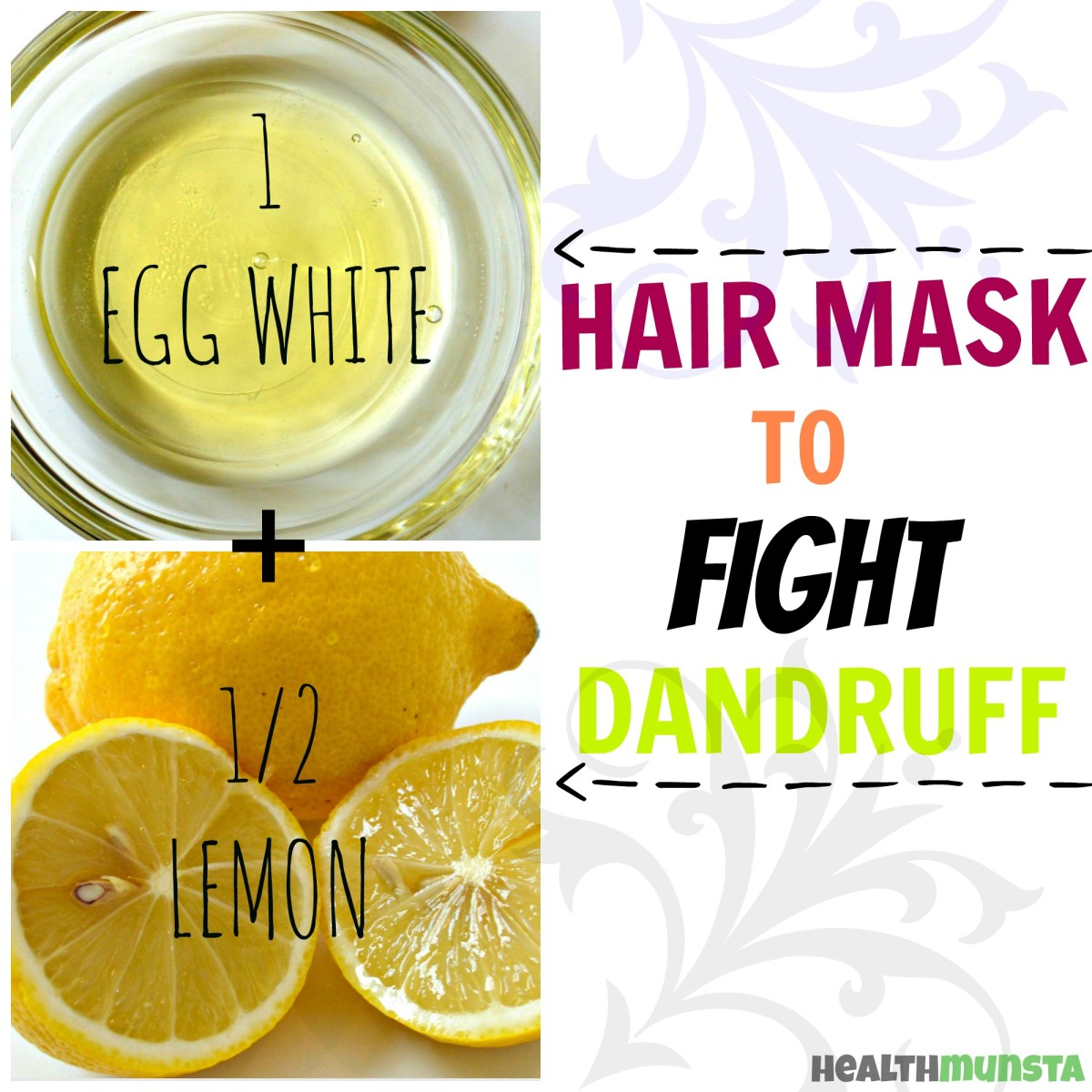 This egg white lemon  hair mask is super effective against dandruff!