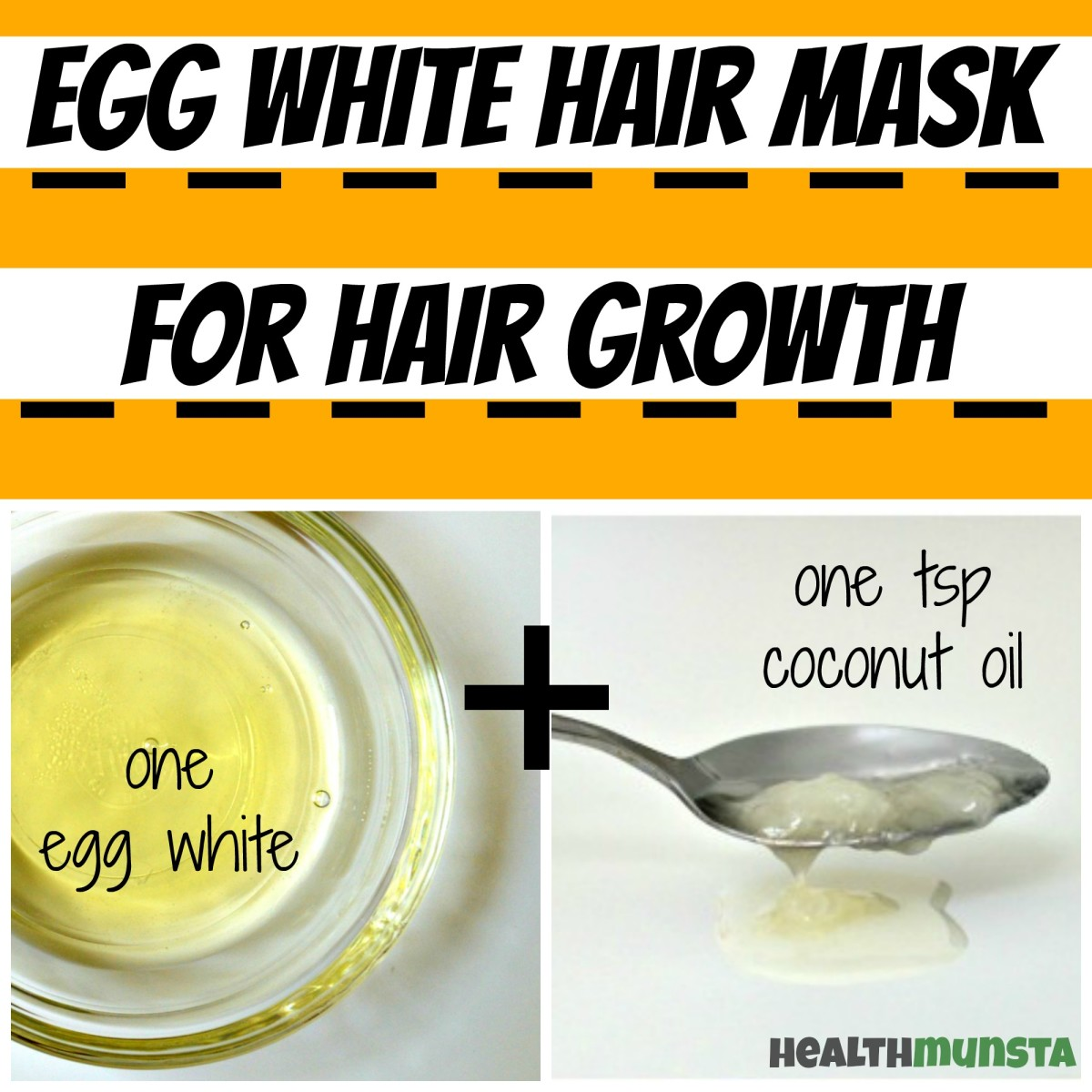 Combine the nourishing coconut oil with protein-rich egg white to boost hair growth
