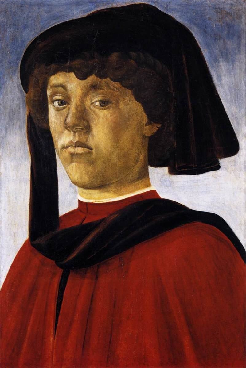 The young man is not wearing his liripipe over a hood.