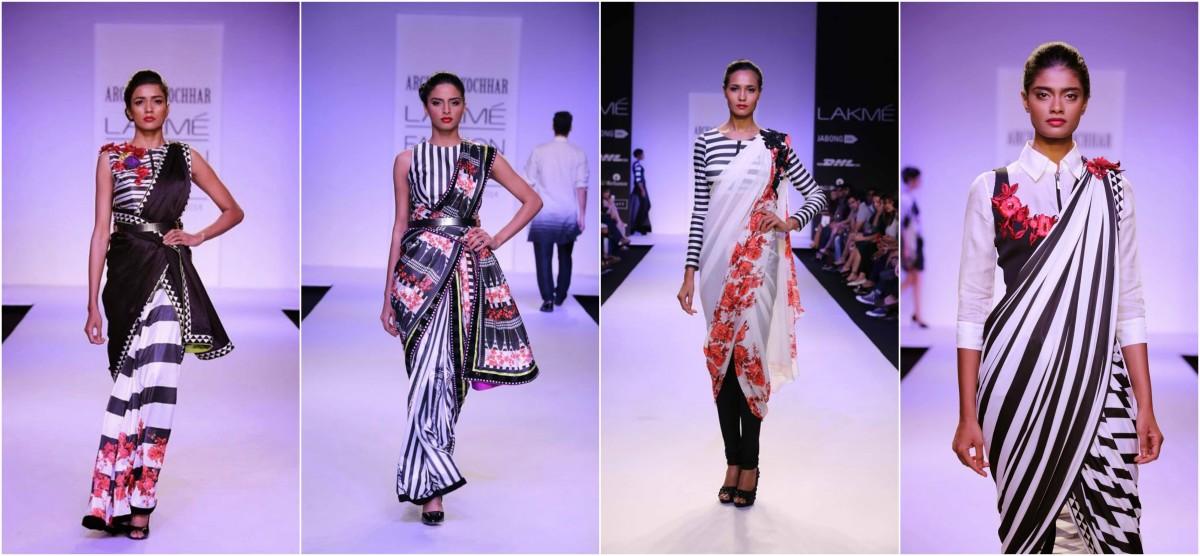 LFW Style Inspiration: 8 Funky Fusion Designer Saree Drapes