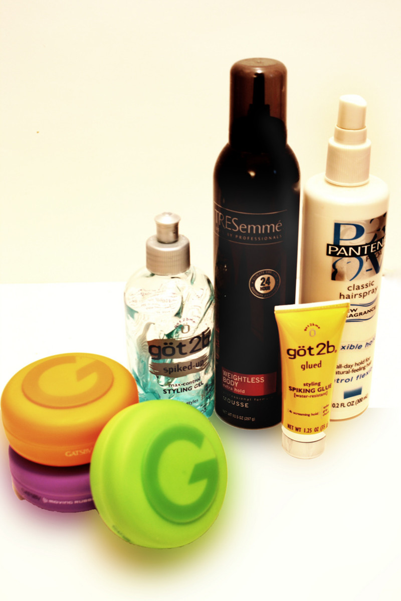 You can buoy up your style with volumizing mousses and styling lotions etc., but confine them to the roots.
