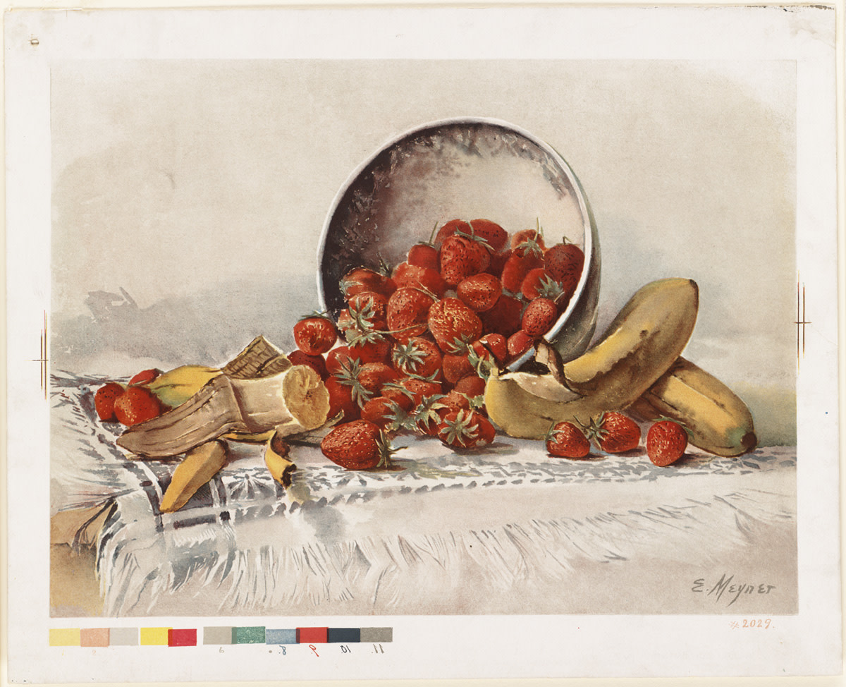 By Meyner, E. (artist); L. Prang & Co. (publisher) (Flickr: Strawberries and Bananas in a Basket) [Public domain], via Wikimedia Commons
