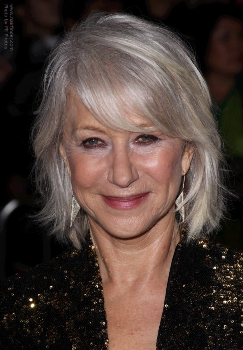 "Sometimes I tell my hairdresser: "" Make me look like Helen Mirren"". Bringing in a print of a photo is a better idea. Especially with her new updated look."