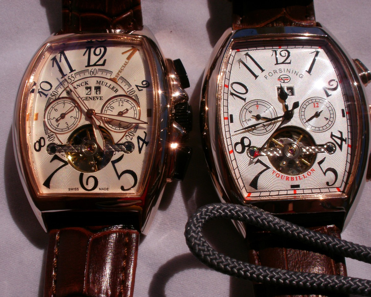 Forsining U0W7 alongside my replica of a Franck Muller Casablanca