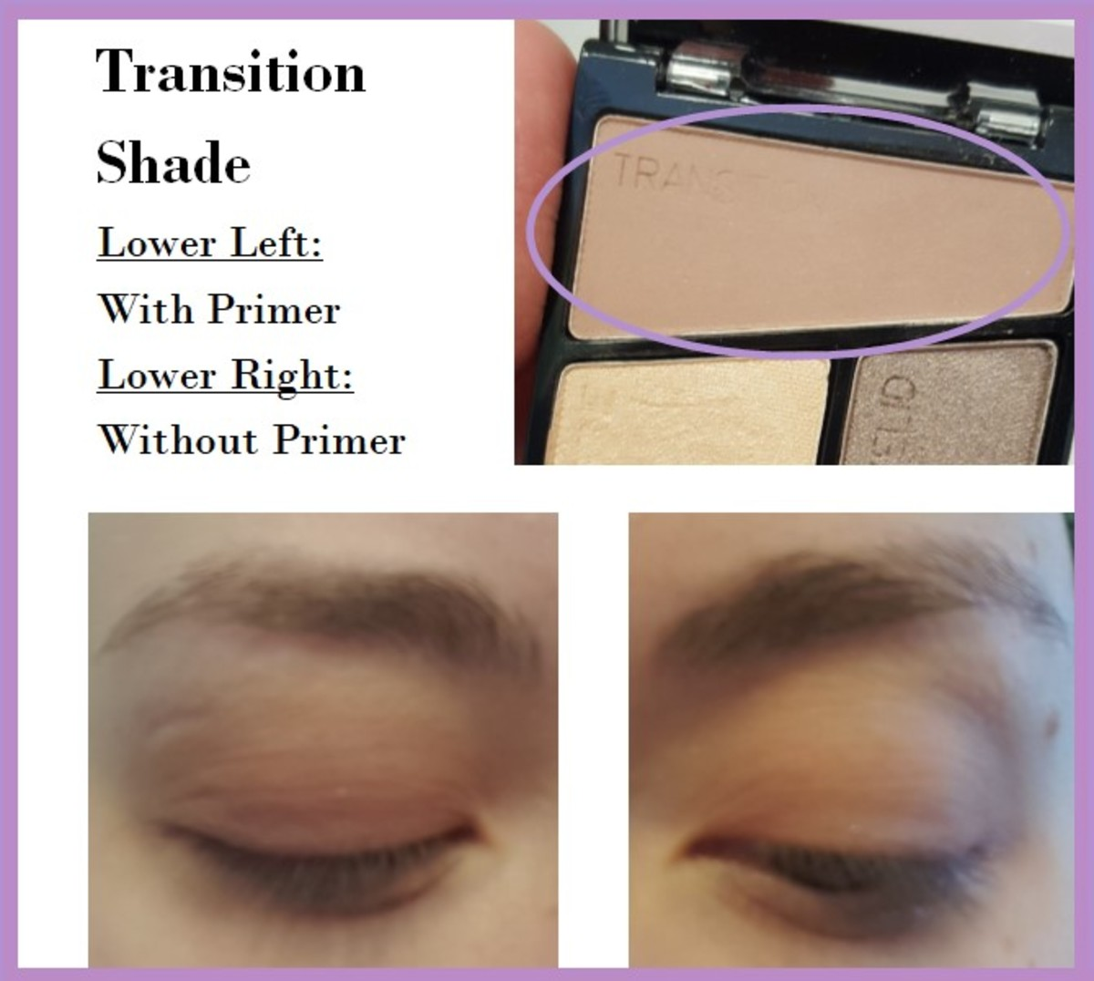 Eye swatches of the Transition Shade from the Wet 'N' Wild Color Icon Quad in Silent Treatment