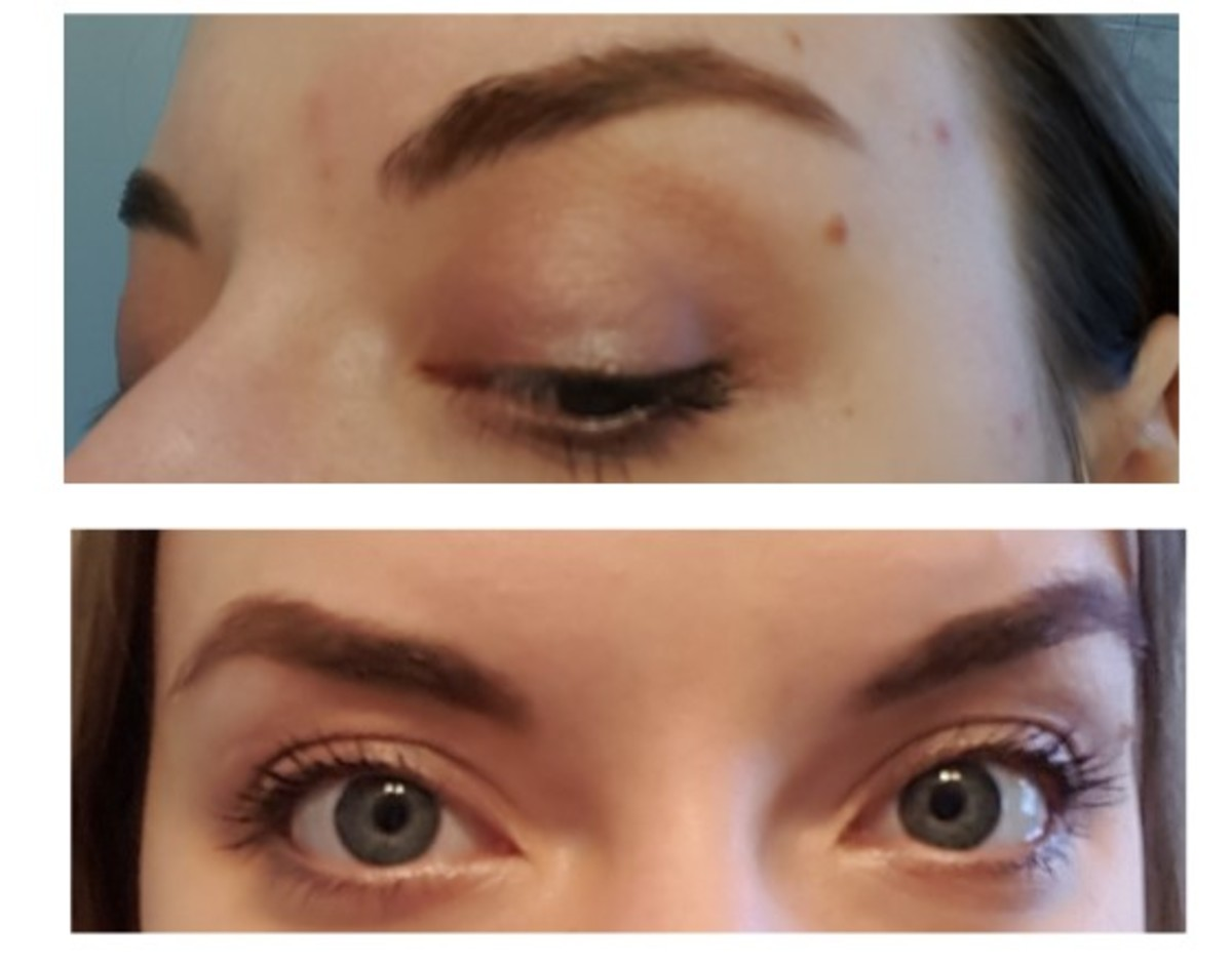 My final look with the Silent Treatment quad: Eyelid on my lid and lower lash line, Crease on my upper lash line, Transition in my crease, and Browbone in my inner corners. I kept it very understated since I was on my way to work.