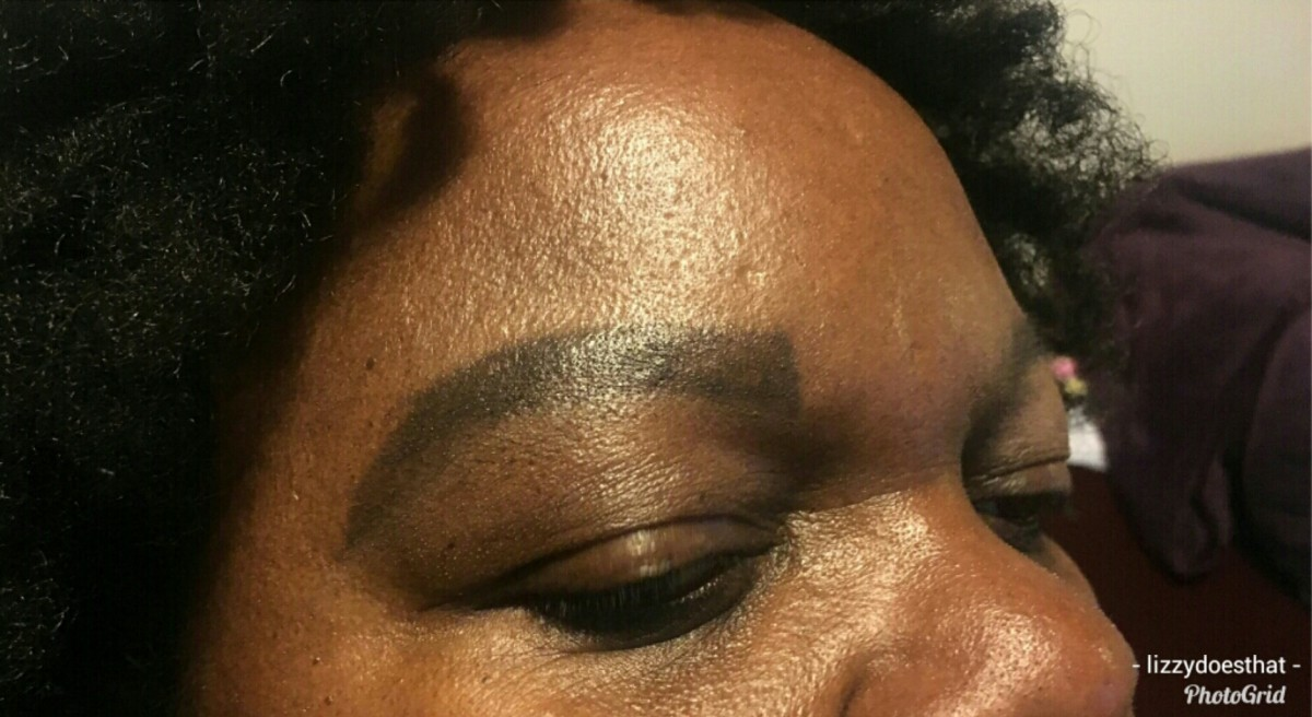Step 6: Fill in the brow keeping it darker at the tail and lighter at the front to avoid it looking boxy or harsh.