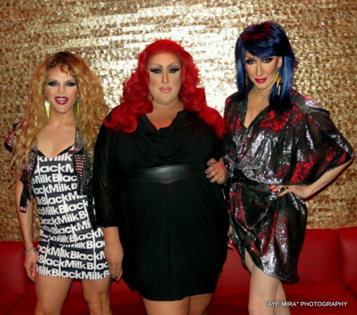 Queens Detox, William, and Vicky Vox at Venue nightclub in Houston, TX in 2013