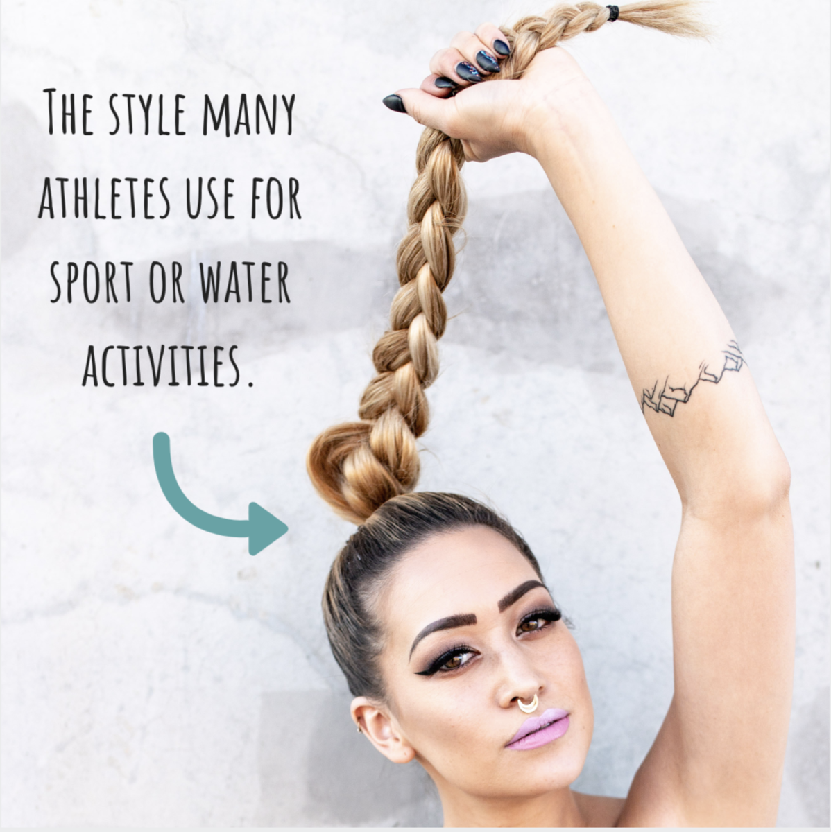 This is a great style for active people who have a hard time keeping their hair from tangling.