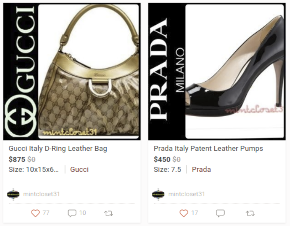 Used luxury brands for sale on Poshmark