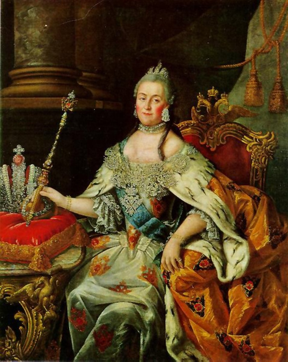 Alexei Petrovich Antropov's portrait of Catherine the Great.
