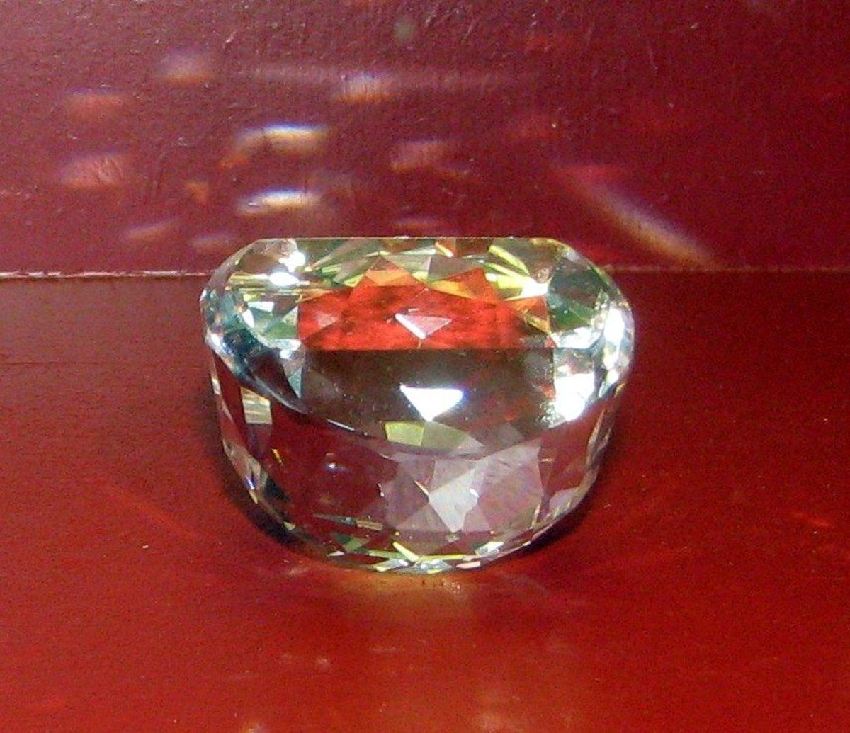 Orlov diamond Shown Upside-Down