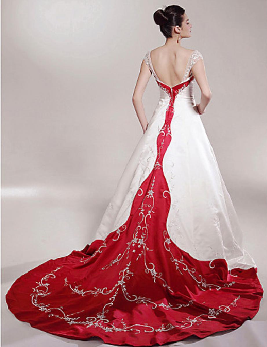 Chapel Train Satin Luxury Wedding Dress
