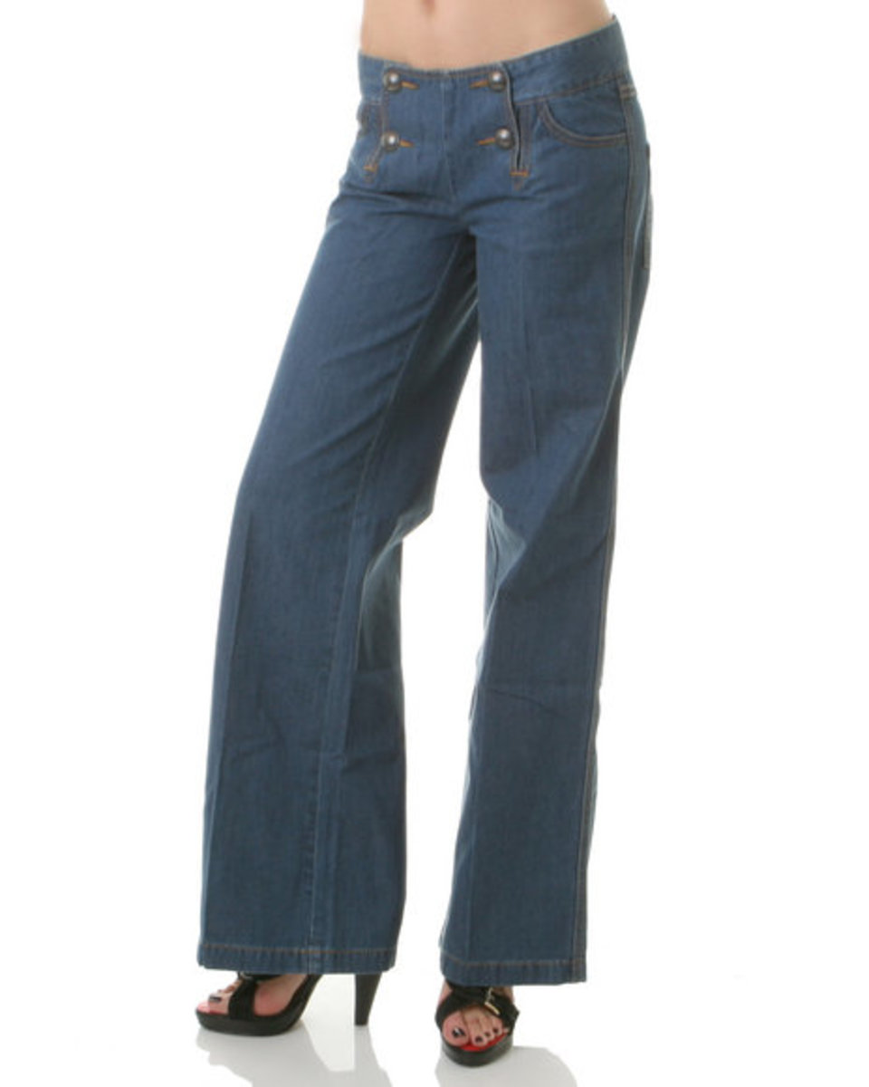 Depending on your body type and general style, you might look better in wide leg jeans (rather than straight leg).