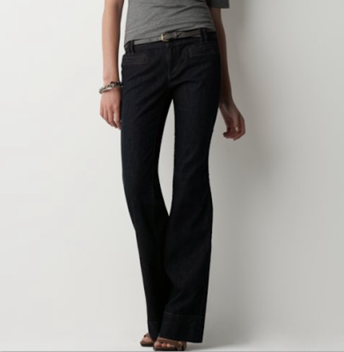 As a general rule, trouser jeans will fit most body types well.