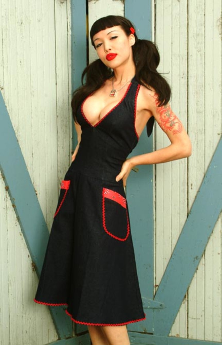 Lucy Halter dress at Pin Up Girl Clothing